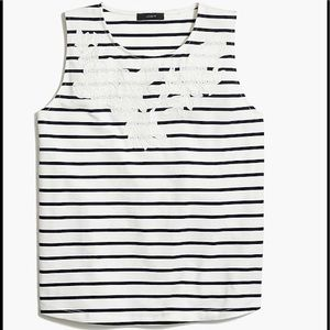 J Crew Factory Striped Tank Top w Size Small